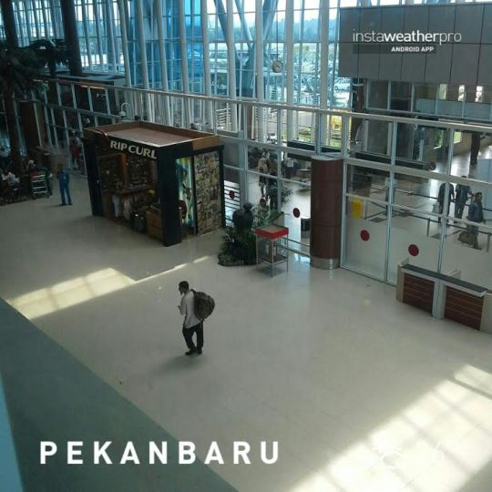 Entry to Pekanbaru via it's new airport