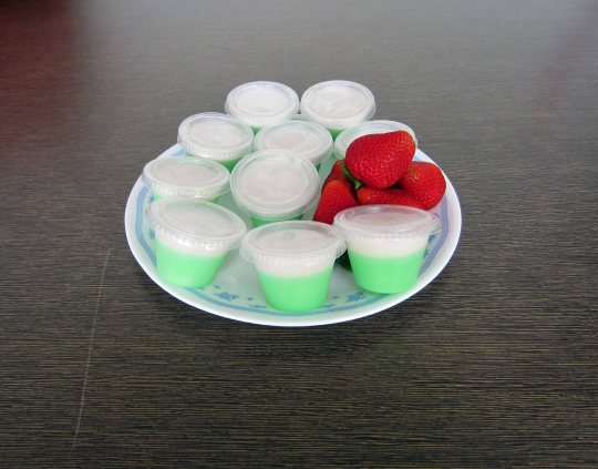 The pandan tako - served in  mini containers